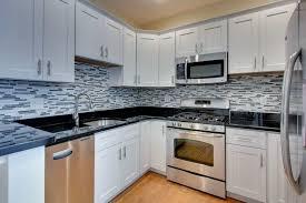 White Cabinets And Granite Countertops Stone Backsplash Ideas With