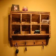 key rack holder wall organizer reclaimed wood wall mounted mail organizer and key rack