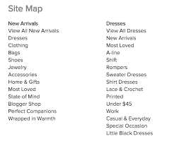 here s an exle sitemap from a clothing all the text shown here is able links that lead to or landing pages