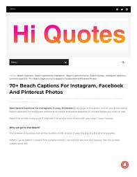 70 Beach Captions For Instagram Facebook And Pinterest Photos By