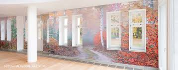panoramic on mural wall artist with wallpaper art and photo wall murals