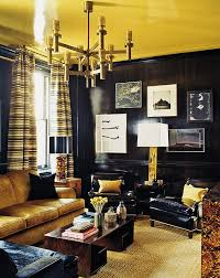 ... Gold Adds A Sense Of Luxury To The Living Room [Design: ABRAMS /  Photography