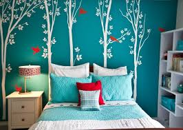 Aqua And Red Bedroom Ideas