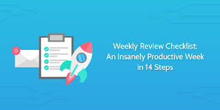 Weekly Checklist Weekly Review Checklist An Insanely Productive Week In 14 Steps