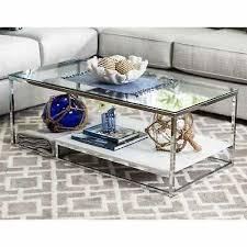 coffee table white chrome 487 99