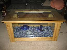 view in gallery wood fish tank coffee table