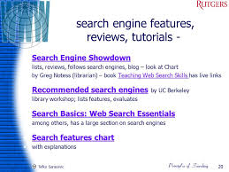 Tefko Saracevic 1 Search Engines Digital Libraries Ppt
