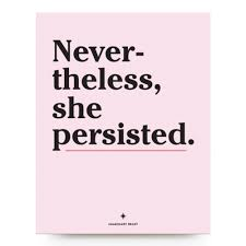 She Persisted Quote Enchanting Nevertheless She Persisted Print Imaginary Beast