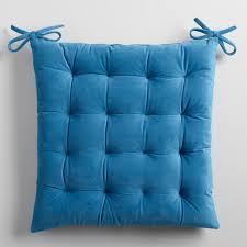 Midnight Blue Velvet Chair Cushion