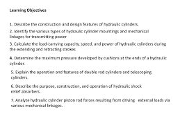 Hydraulic Cylinder Linkage Design Chapter 6 Hydraulic Cylinders And Cylinder Cushioning Ppt