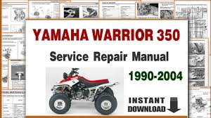 yamaha warrior 350 service repair manual 1990 to 2004 youtube yamaha banshee no spark at 2002 Yamaha Banshee Wiring Diagram