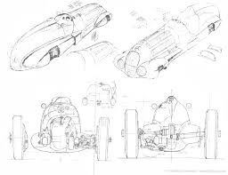 1300x1000 automotive illustration of a 1937 mercedes benz w125 scale plans