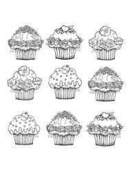Small Picture Printable cupcake coloring page Free PDF download at http
