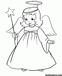 Christmas Angel Coloring Pages - Coloring Home