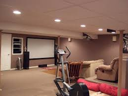 Decorations:Gym Concept In Basement Design With Treadmill And Home Theatre  Idea Gym Concept In