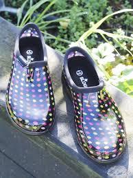 Womens Waterproof Shoes Sloggers Rain Shoes Multi Pindot