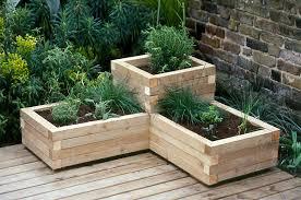 Wooden Garden Planters Ideas Garden Planter Designs Wonderful Best 25  Outdoor Planters Ideas On