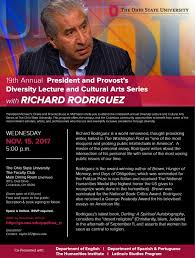 diversity lecture and cultural arts series richard rodriguez  event flyer
