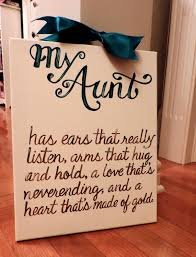 Mothers Day Aunt Gift Quote Custom Canvas By Dreamcustomartwork