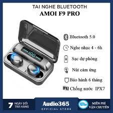 Tai Nghe Bluetooth 5.0 Amoi F9 Pro Bản Quốc Tế Cao Cấp Nhất - Cảm Biến Vân  Tay, Sạc Dự Phòng - AUDIO365 - BH 6 tháng