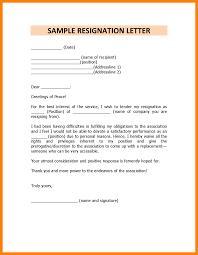 7 Resignation Letter Sample Doc Personal Reason Handy Man Resume