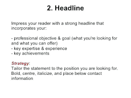 Sample Resume Titles The Best Resume Headline Examples For Job