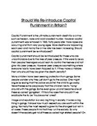 capital punishment essay con death penalty at com should we re introduce capital punishment gcse