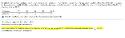 Solved Listed Below Are Systolic Blood Pressure Measureme