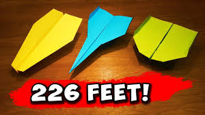 Paper Airplane Designs That Fly Far How To Make 5 Easy Paper Airplanes That Fly Far