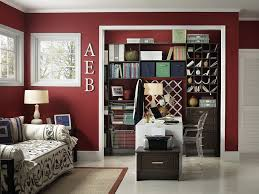 modern home office featuring glossy white. View In Gallery Sparkling Contemporary Home Office With White Trims And Maroon Walls [Design: Capital Closets] Modern Featuring Glossy