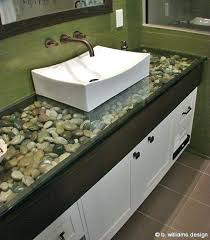 tempered glass countertops luxurious bathroom ideas river rock under glass at s how much do tempered