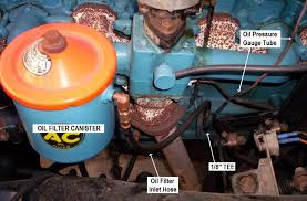 oil filter canister installation oil filter inlet hose location