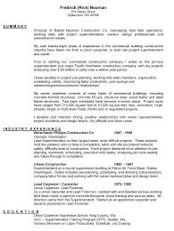 Resume Template For Construction Worker Awesome Carpenter Resume