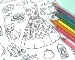 Small Picture Girly coloring Etsy