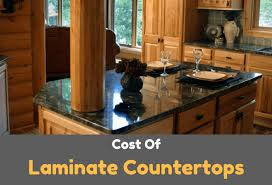 cost of installation of laminate countertop