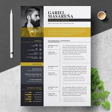 Professional Design Resume Professional Word Resume Cv Template By Resumeinventor On