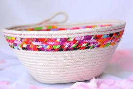 Handmade Bathroom Accessories Sale Decorative Spring Basket Handmade Fiber Basket Brush