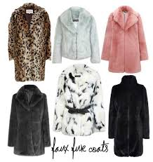selection of faux fur coats uk