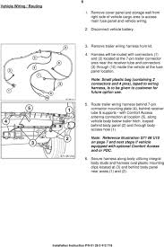 installation instructions pdf harness will be routed connectors 1 and 2 located at the