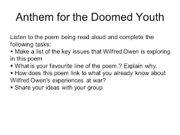 anthem for doomed youth ppt video online  anthem for the doomed youth