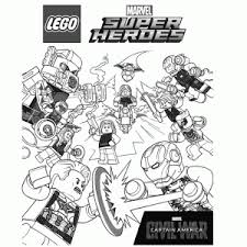Plush Lego Avengers Coloring Pages Lego Marvel For Kids Free