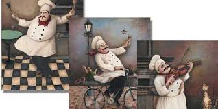 charming fat chef wall decor