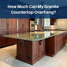 how much can my granite countertop overhang