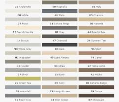 76 Eye Catching C Cure Grout Color Chart