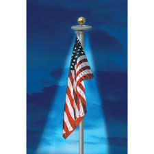 Flag Lights Pole Annin Flagmakers Solar Powered Flagpole Light