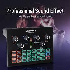 Professionelle Podcast Externe Soundkarte für Computer Audio Interface DJ  Sound Mixer Live Voice Changer für bm 800 Mikrofon|Sound Cards