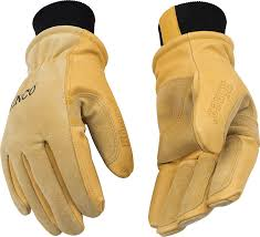 Kinco Lined Heavy Duty Premium Grain Suede Pigskin Driver With Knit Wrist