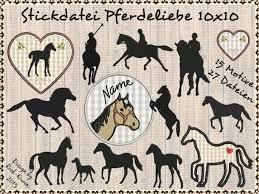 Stickdatei Stickmuster Pferdeliebe Fohlen Reiter Pferde Etsy