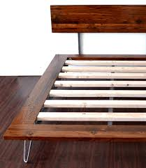 Platform Bed With Hairpin Legs