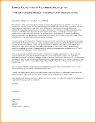 Recommendation Letter Format For Student 4 Sample Of Simple
